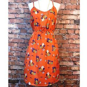 Beautiful Nordstrom Everly Orange Dress Small
